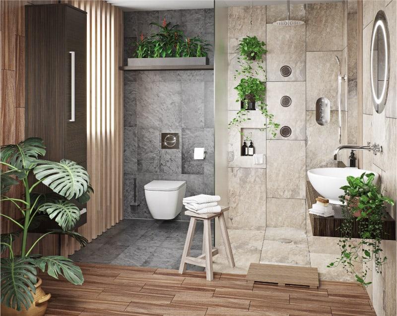 ห้องน้ำ ต้นไม้