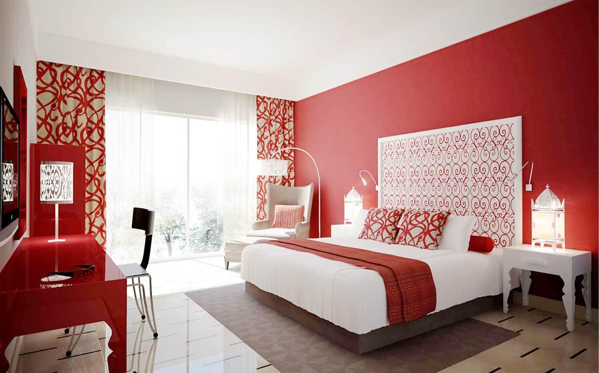 ห้องนอนสีแดง