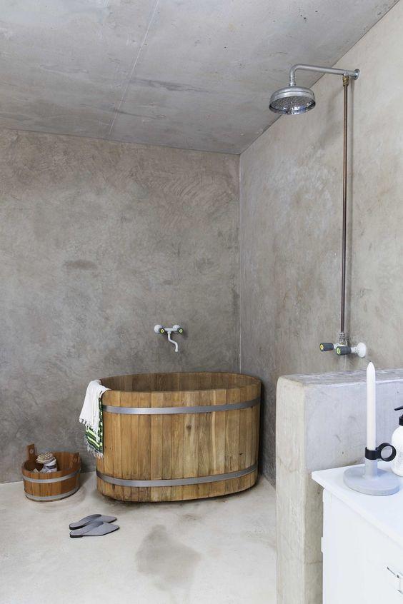 อ่างอาบน้ำไม้