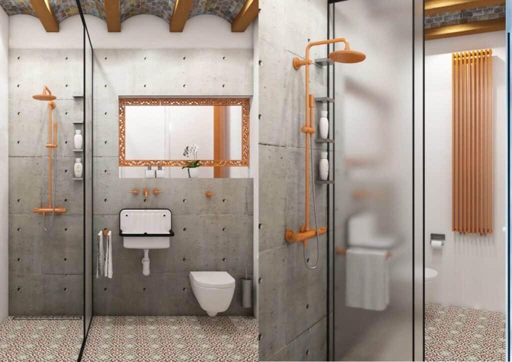 ห้องน้ำกั้นโซนแห้งเปียก