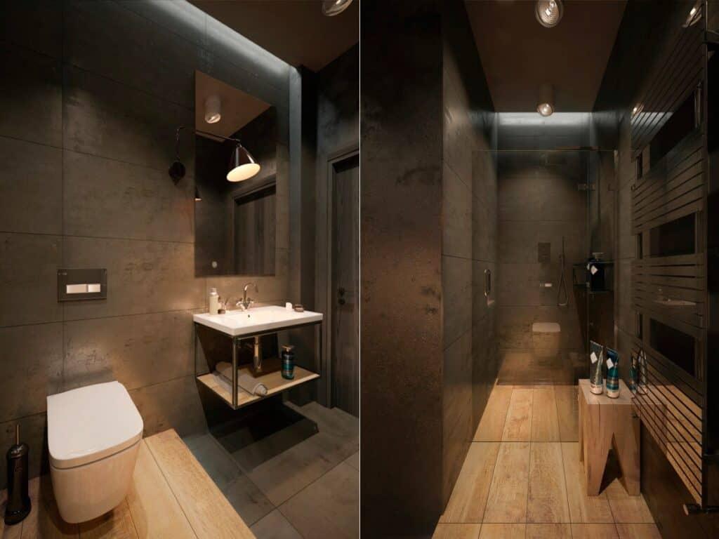 แสงไฟในห้องน้ำ