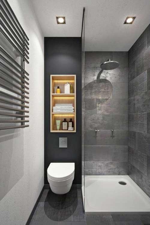 ห้องน้ำสีเทา